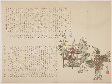 Flower Vendors, C. 1818-1829 Giclee Print