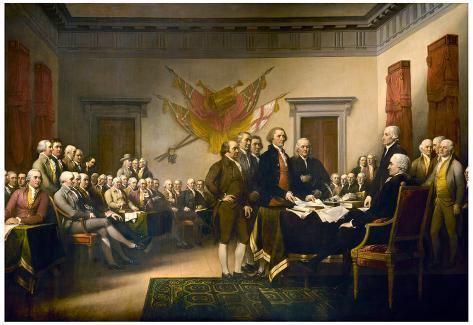 John Trumbull (Declaration of Independence) Art Poster Print Mounted Print