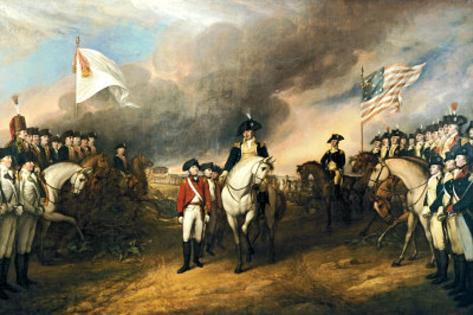 John Trumbull Surrender of Lord Cornwallis Art Print Poster Masterprint