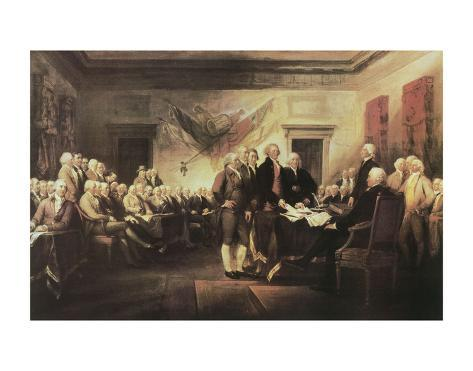 The Declaration of Independence Stampa artistica