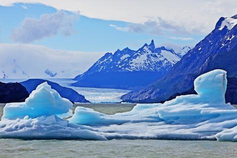 Grey Glacier, Torres Del Paine National Park Photographic Print