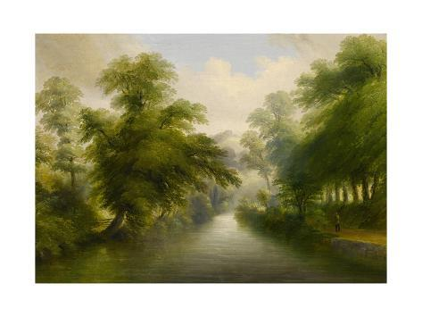 Mill Stream at Pynes - Exeter Water Company Works, 1862 Giclee Print