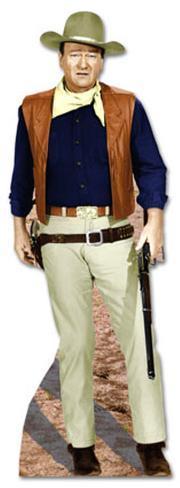 John Wayne - Rifle at Side Lifesize Standup Cardboard Cutouts