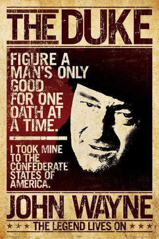 John Wayne The Duke Poster