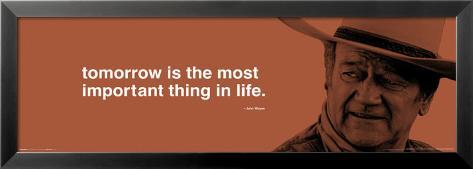John Wayne - Tomorrow Lamina Framed Poster