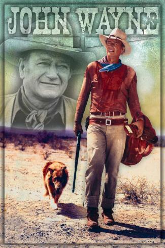 John Wayne Walking Poster