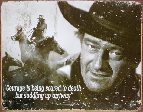 John Wayne Plåtskylt