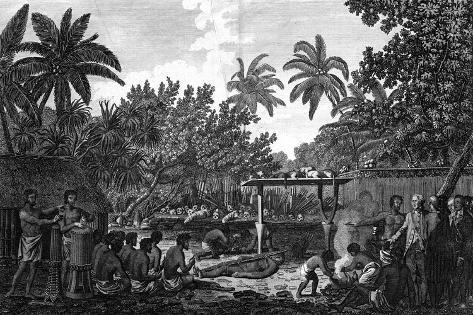 A Human Sacrifice in a Morai, in Otaheite; in the Presence of Captain Cook, C1773 Giclee Print