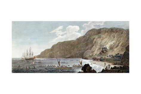 A View of Karakakooa in Owyhee, 1785 Lámina giclée