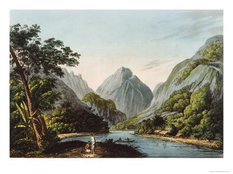 View in Oheitepha Bay on the Island of Otaheite, from Captain Cook's Last Voyage, 1809 Giclee Print