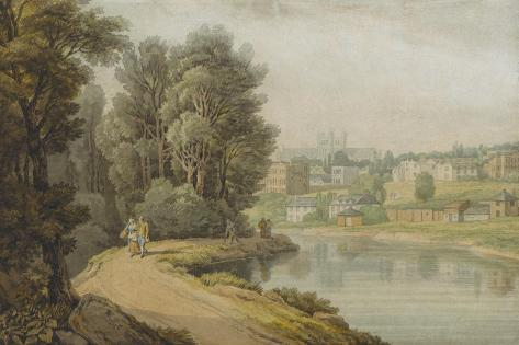 Exeter as Seen from the River, 1816 Giclee Print