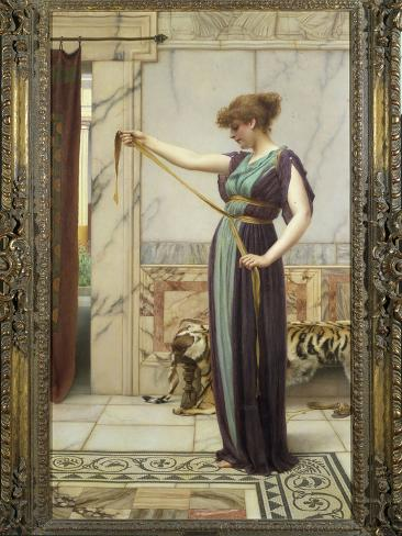 A Pompeian Lady, 1891 Lámina giclée