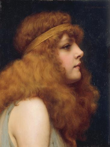 An Auburn Beauty, 1895 Lámina giclée