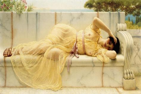 Girl in Yellow Drapery, 1901 Lámina giclée