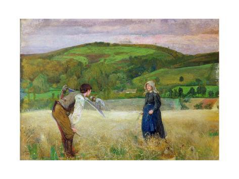 A Field of Barley, 1866 Giclee Print