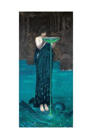 Circe Invidiosa, 1892 Lámina giclée