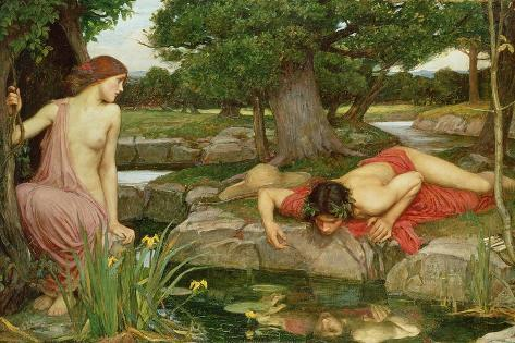 Echo and Narcissus, 1903 Giclee Print