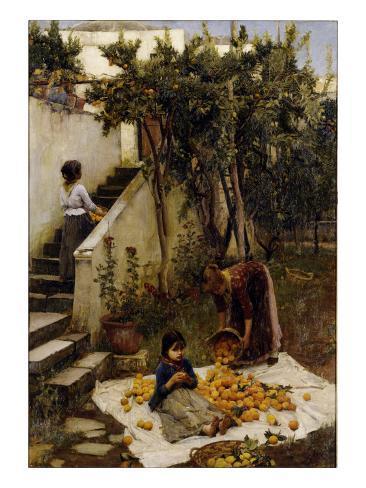 he Orange Gatherers Giclee Print