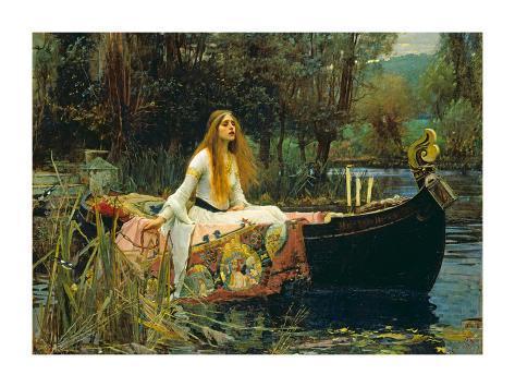 La dama de Shallot, 1888 Lámina