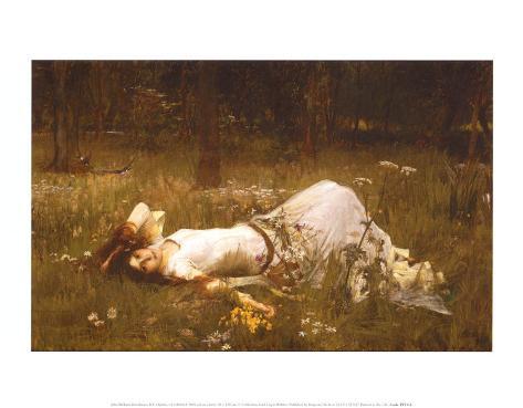 Ophelia, c.1889 Art Print