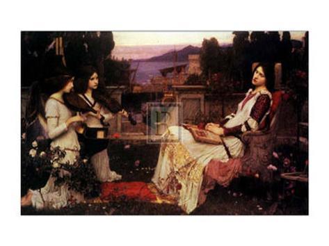 Saint Cecilia, 1895 Art Print