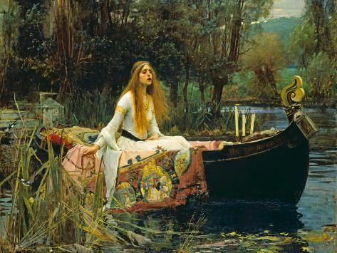 The Lady of Shalott, 1888 Giclee Print
