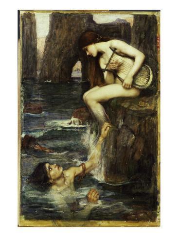The Siren, c.1900 Lámina giclée