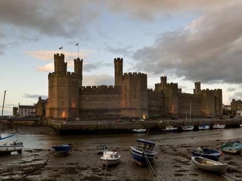 Caernarfon Castle, Caernarfon, UNESCO World Heritage Site, Wales, United Kingdom, Europe Photographic Print
