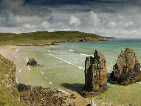 Sea Stacks on Garry Beach, Tolsta, Isle of Lewis, Outer Hebrides Photographic Print