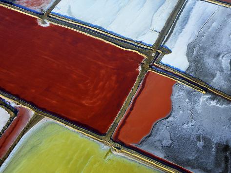 Aerial of Salt Pans Photographic Print