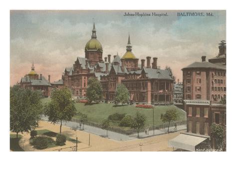 Johns Hopkins Hospital, Baltimore, Maryland Art Print