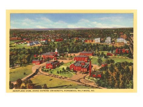 Johns Hopkins University, Baltimore, Maryland Art Print