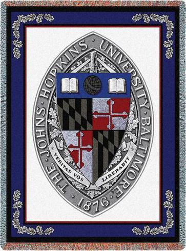Johns Hopkins University, Seal Throw Blanket