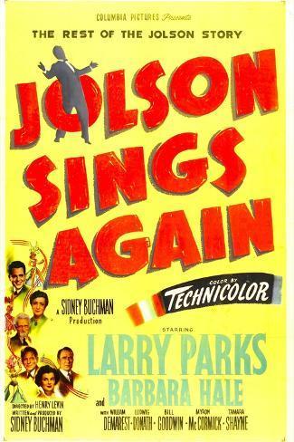 Jolson Sings Again Art Print
