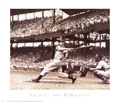 Joltin' Joe DiMaggio Art Print