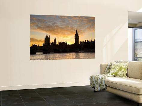 Big Ben and Houses of Parliamant, London, England Wall Mural