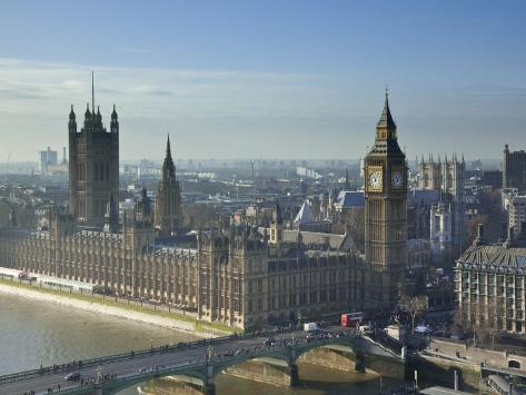 Big Ben and Houses of Parliament, London, England Photographic Print