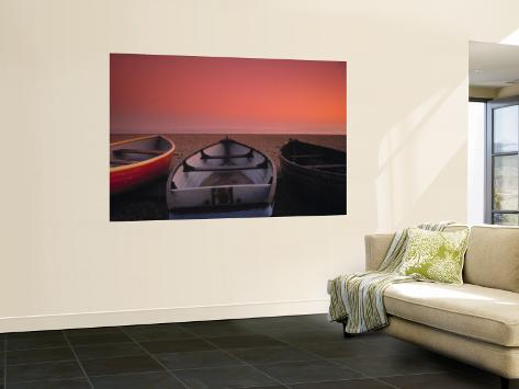 Boats on the beach, Brighton, East Sussex, England Wall Mural