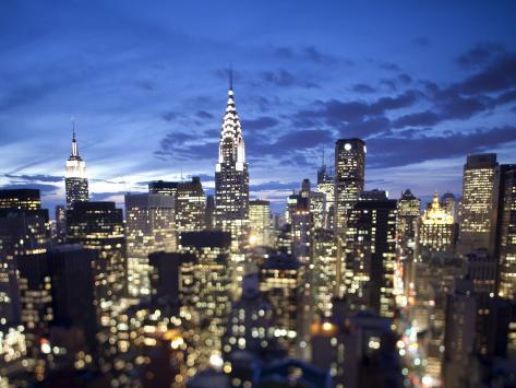 Chrysler Building and Midtown Manhattan Skyline, New York City, USA Photographic Print
