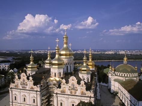 Dormition Cathedral, Kyiv-Pechersk Lavra monastery, Kiev, Ukraine Photographic Print