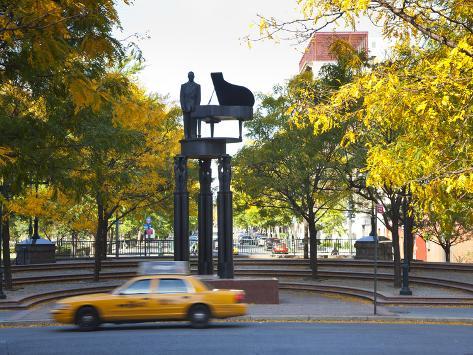 Duke Ellington Statue, Frawley Circle, Harlem, Manhattan, New York City, USA Photographic Print