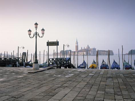 Gondolas, St. Mark's Square, Venice, Italy Photographic Print