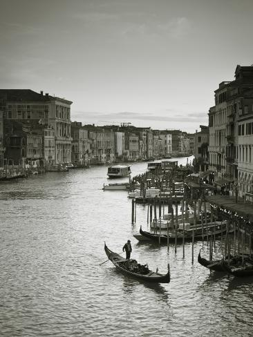 Grand Canal from the Rialto, Venice, Italy Photographic Print