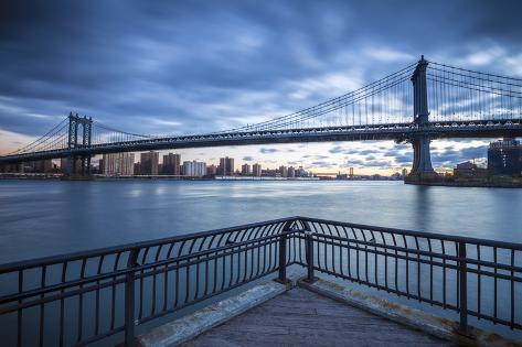 Manhattan Bridge from Brooklyn, New York City, New York, USA Valokuvavedos