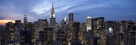 Midtown Skyline with Chrysler Building and Empire State Building, Manhattan, New York City, USA Photographic Print