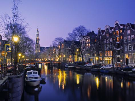 Prinsengracht, Amsterdam, Holland Photographic Print