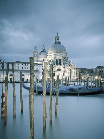 Santa Maria Della Salute, Grand Canal, Venice, Italy Photographic Print