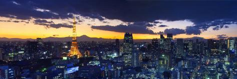 Skyline from Shiodome, Tokyo, Japan Photographic Print