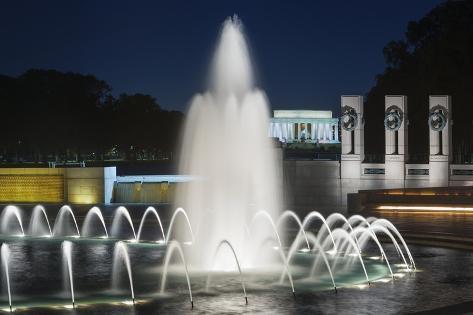 The National World War II Memorial in Washington, Dc. Photographic Print