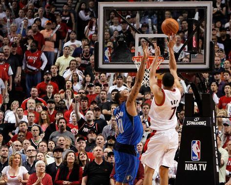 Dallas Mavericks v Portland Trail Blazers - Game Four, Portland, OR - APRIL 23: Brandon Roy and Sha Photo